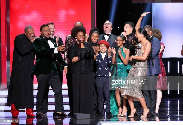 Laurence Fishburne Anthony Anderson Jeff Meacham Jenifer Lewis Yara Shahidi Miles Brown Peter Mackenzie Marsai Martin Miles Brown and Tracee Ellis...