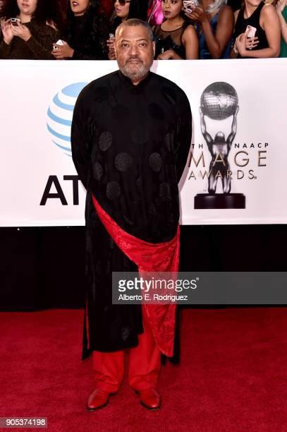 Laurence Fishburne attends the 49th NAACP Image Awards at Pasadena Civic Auditorium on January 15 2018 in Pasadena California