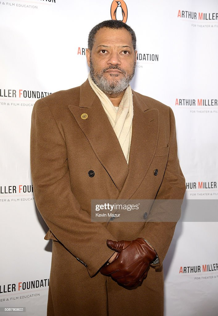 Laurence Fishburne attends the Arthur Miller - One Night 100 Years Benefit at Lyceum Theatre on January 25, 2016 in New York City.