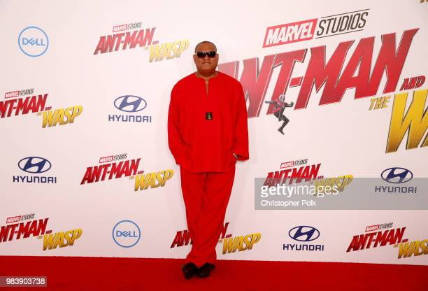 Laurence Fishburne attends the premiere of Disney And Marvel's 'AntMan And The Wasp' on June 25 2018 in Los Angeles California