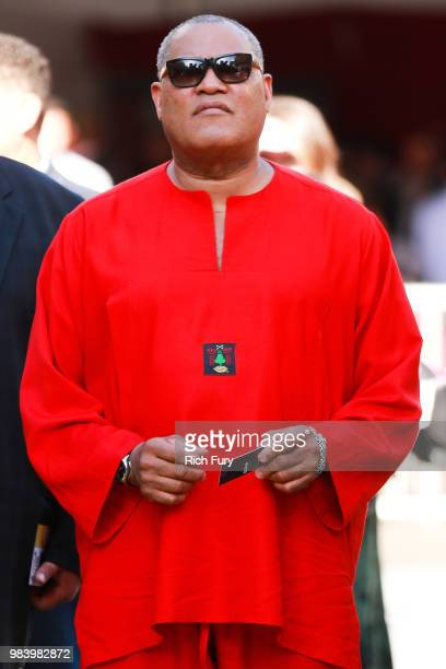 Laurence Fishburne attends the premiere of Disney And Marvel's 'AntMan And The Wasp' on June 25 2018 in Hollywood California