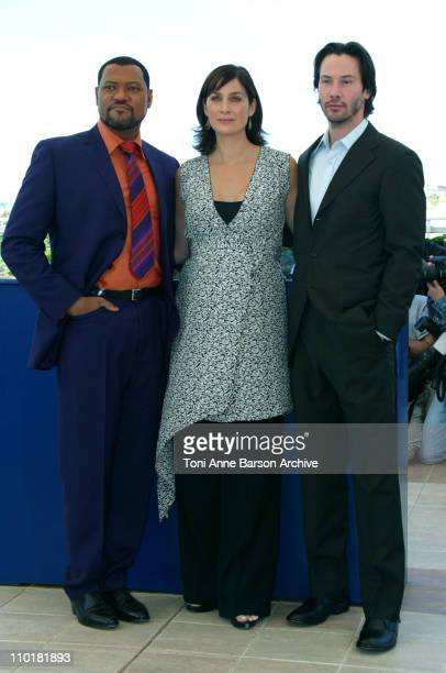 Laurence Fishburne CarrieAnne Moss and Keanu Reeves
