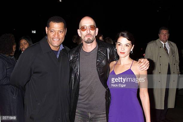 Laurence Fishburne Dominic Chianese Jr and Annabella Sciorra arriving at the New York Premiere of 'Once In The Life' written and directed by Laurence...