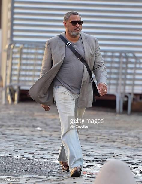 Laurence Fishburne is seen in Soho on September 16 2015 in New York City