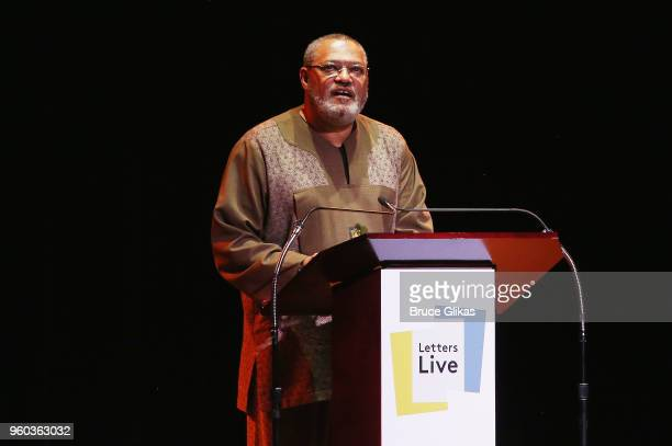Laurence Fishburne performs in the New York debut of the hit show 'Letters Live' at Town Hall on May 19 2018 in New York City