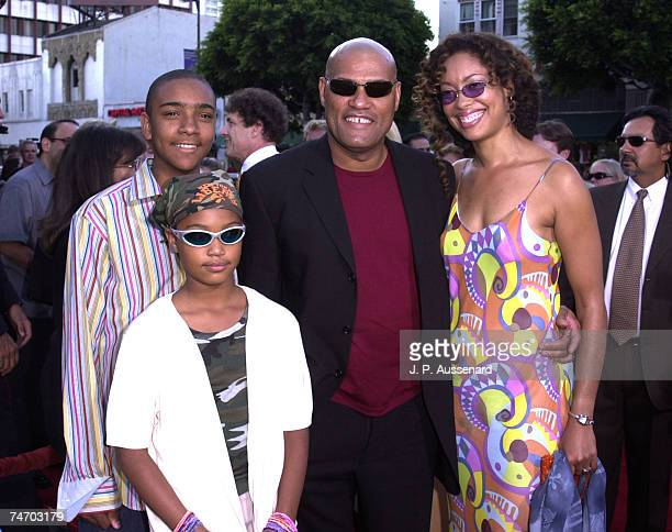 Laurence Fishburne son Langston daughter Montana Gina Torres at the Egyptian Theater in Hollywood California