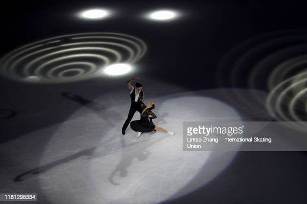 Laurence Fournier Beaudry and Nikolaj Sorensen of Canada performs in the Gala Exhibition during day three of the ISU Grand Prix of Figure Skating Cup...