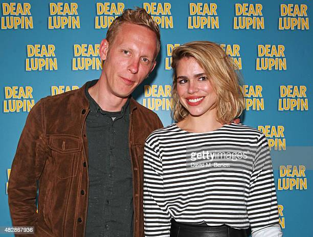 Laurence Fox and Billie Piper attend an after party following the press night performance of Dear Lupin at the Ham Yard Hotel on August 3 2015 in...