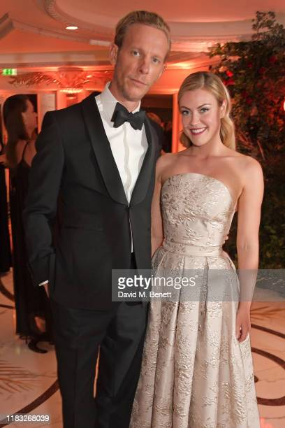 Laurence Fox and Camilla Kerslake attend the Walpole British Luxury Awards 2019 at The Dorchester on November 18 2019 in London England