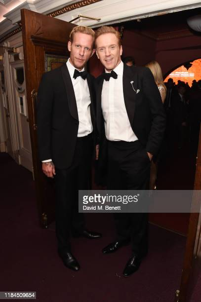 Laurence Fox and Damian Lewis attend the 65th Evening Standard Theatre Awards in association with Michael Kors at the London Coliseum on November 24...