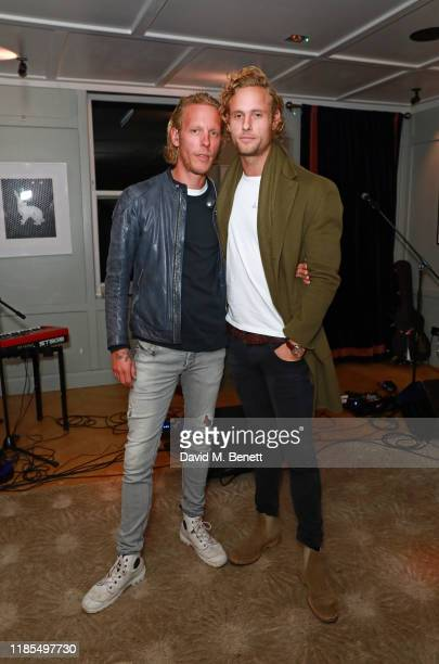 Laurence Fox and Jack Fox attend the launch of Laurence Fox's new album A Grief Observed at The Groucho Club on November 04 2019 in London England