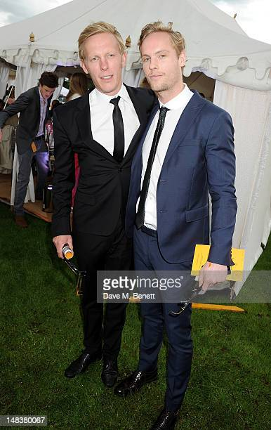 Laurence Fox and Jack Fox attend the Veuve Clicquot Gold Cup Final at Cowdray Park Polo Club on July 15 2012 in Midhurst England