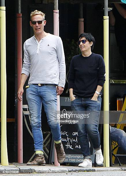 Laurence Fox and Sharleen Spiteri are seen out and about in North London on June 8 2015 in London England