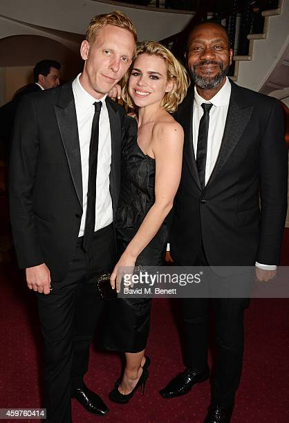 Laurence Fox Billie Piper and Lenny Henry attend an after party following the 60th London Evening Standard Theatre Awards at the London Palladium on...