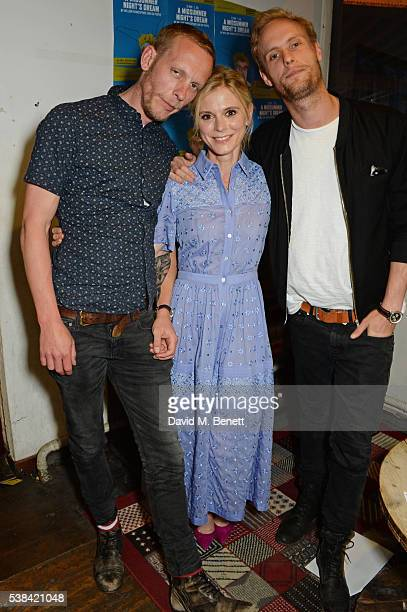 Laurence Fox Emilia Fox and Jack Fox attend the press night after party for 'A Midsummer Night's Dream' at Southwark Playhouse on June 6 2016 in...