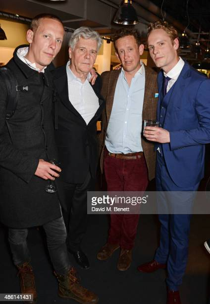 Laurence Fox father James Fox Thomas Fox and Jack Fox attend the press night performance of 'Dorian Gray' at the Riverside Studios on April 22 2014...