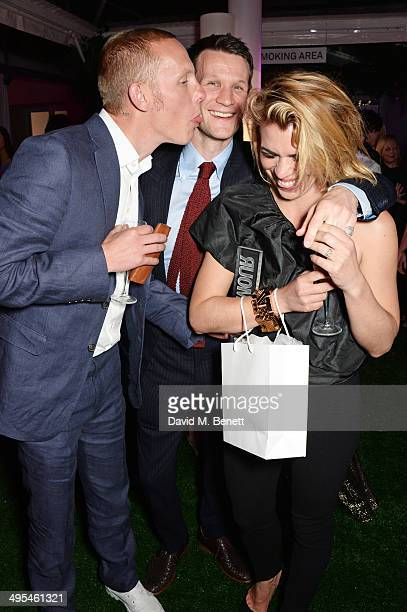 Laurence Fox Matt Smith and Billie Piper attend the Glamour Women of the Year Awards after party in Berkeley Square Gardens on June 3 2014 in London...