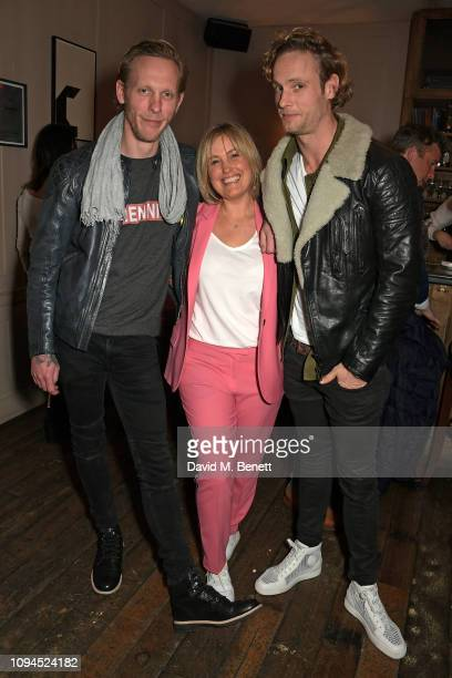Laurence Fox Mika Simmons and Jack Fox attend a private screening of Rain Stops Play a new short film directed by Mika Simmons in support of Lady...