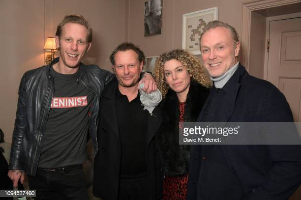 Laurence Fox Neil Stuke Sally Ann Stuke and Garry Kemp attend a private screening of Rain Stops Play a new short film directed by Mika Simmons in...