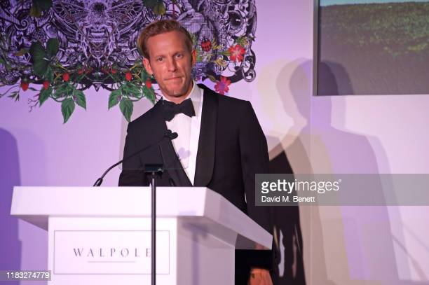 Laurence Fox speak onstage at the Walpole British Luxury Awards 2019 at The Dorchester on November 18 2019 in London England