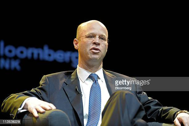 Laurence Goldberg head of the global technology group at Barclays Capital speaks at Bloomberg Link Empowered Entrepreneur Summit in New York US on...