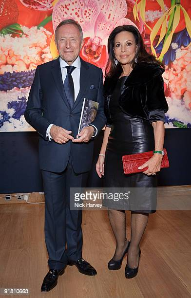 Laurence Graff and AnneMarie Graff attend reception hosted by Graff held in aid of FACET at Christie's King Street on October 12 2009 in London...