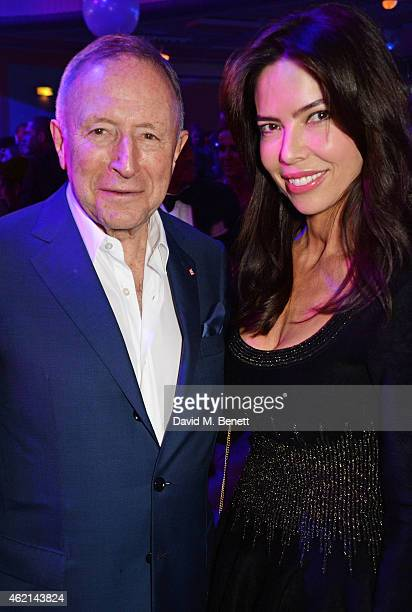 Laurence Graff and guest attend Lisa Tchenguiz's 50th birthday party at the Troxy on January 24 2015 in London England