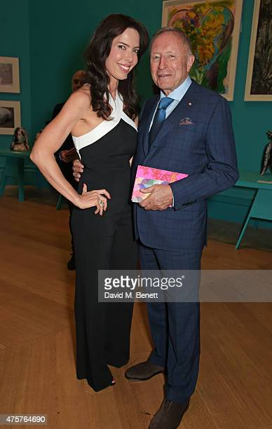 Laurence Graff and guest attend the Royal Academy of Arts Summer Exhibition preview party at the Royal Academy of Arts on June 3 2015 in London...