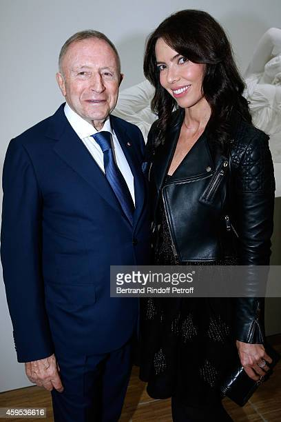 Laurence Graff and his companion Josephine Daniel attend the 'Jeff Koons' Retrospective Exhibition Opening Evening at Beaubourg on November 24 2014...