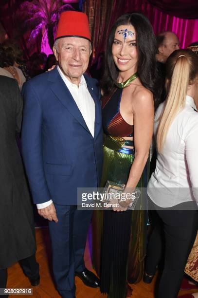 Laurence Graff and Josephine Daniel attend Lisa Tchenguiz's birthday party on January 20 2018 in London England