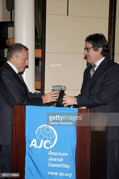 Laurence Graff and Peter Brant attend AMERICAN JEWISH COMMITTEE Honors LAURENCE GRAFF at Daniel on November 14 2008 in New York City