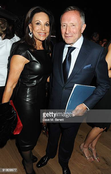 Laurence Graff and wife AnneMarie attend the Graff charity auction and reception in aid of FACET at Christie's on October 12 2009 in London England