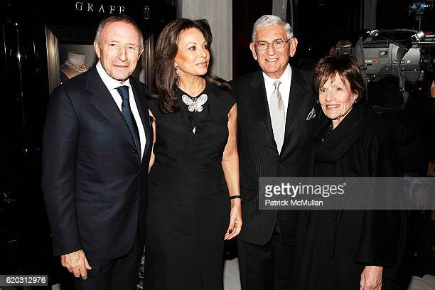Laurence Graff Anne Marie Graff Eli Broad and Edythe Broad attend GRAFF Flagship Salon Opening hosted by LAURENCE GRAFF at Graff Flagship Salon on...