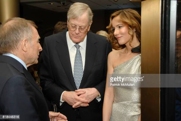 Laurence Graff David Koch and Julia Koch attend WITTELSBACHGRAFF DIAMOND Unveiling Private Dinner at Smithsonian National Museum of Natural History...