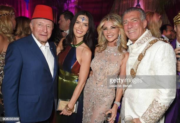 Laurence Graff Josephine Daniel Lisa Tchenguiz and Steve Varsano attend Lisa Tchenguiz's birthday party on January 20 2018 in London England