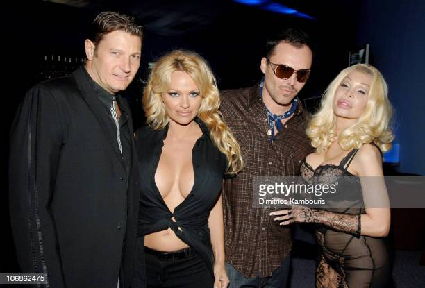 Laurence Hallier Pamela Anderson David LaChapelle and Amanda Lepore and guest