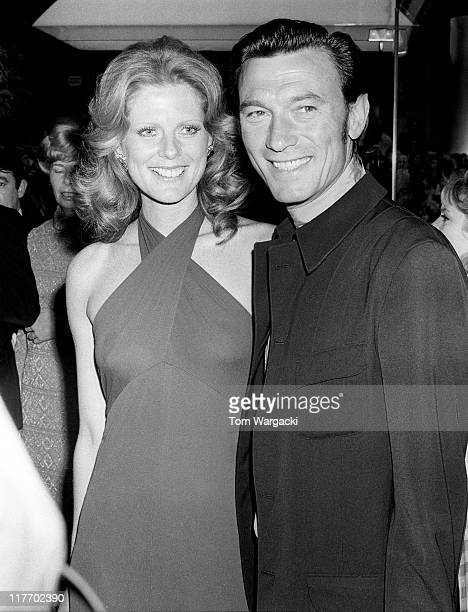 Laurence Harvey with his wife Paulene Stone on June 15 1972 in London