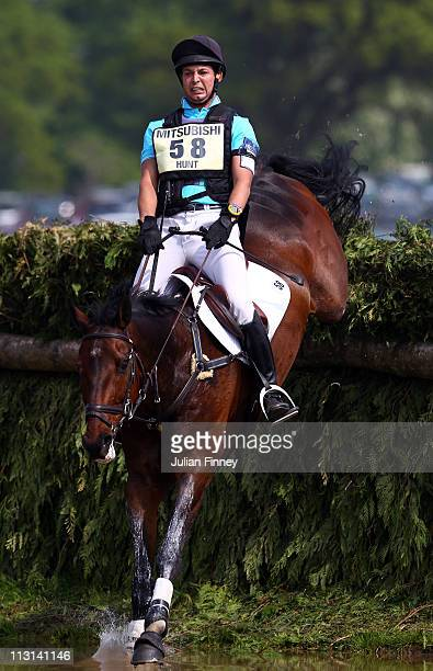 Laurence Hunt riding Phoebus competes in the cross country stage during day three of the Badminton Horse Trials on April 24, 2011 in Badminton,...
