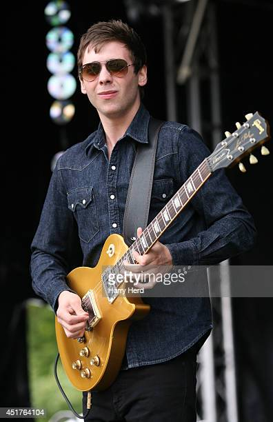 Laurence Jones performs on stage at Cornbury Music Festival at Great Tew Estate on July 6 2014 in Oxford United Kingdom