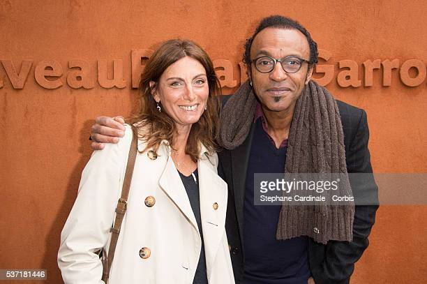 Laurence Katche and Manu Katche attend day eleven of the 2016 French Open at Roland Garros on June 1 2016 in Paris France
