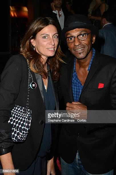 Laurence Katche and Manu Katche attend the Arc Opening Party on October 3 2014 in Paris France