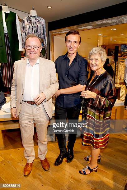Laurence King Joseph Velosa and Joan Burstein attend the book launch of Matthew Williamson Fashion Print Colouring by Laurence King Publishing at...