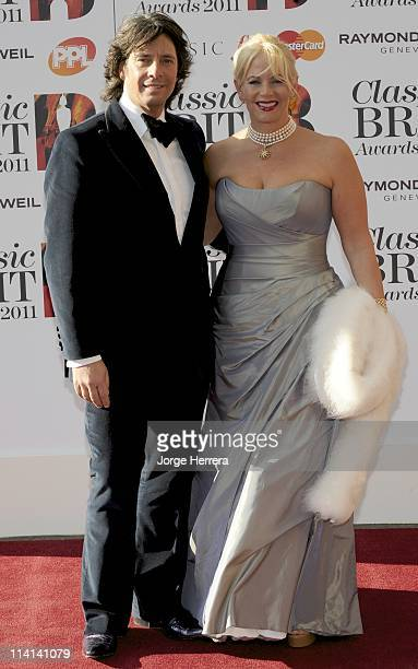 Laurence Llewelyn Bowen and Jackie Llewelyn Bowen attend the Classic Brit Awards at the Royal Albert Hall on May 12 2011 in London England