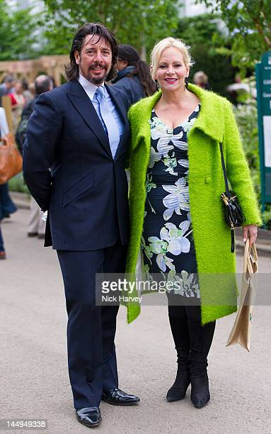 Laurence Llewelyn Bowen and Jackie Llewelyn Bowen attend the press and VIP preview day for The Chelsea Flower Show at Royal Hospital Chelsea on May...