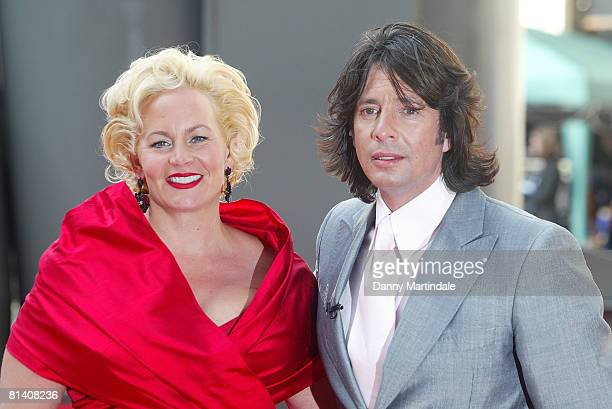 Laurence Llewelyn Bowen and wife Jackie arrives at the Royal Academy of Arts Summer Exhibition on June 4 2008 in London United Kingdom