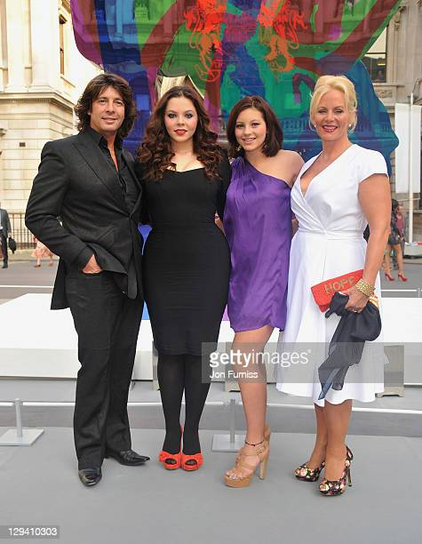 Laurence Llewelyn Bowen with his wife Jackie and daughters Cecile and Hermione attend The Royal Academy of Arts Summer Exhibition Preview Party held...