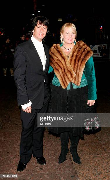 Laurence LlewelynBowen and his wife Jackie arrive at the UK Premiere of Keeping Mum at Vue Leicester Square on November 28 2005 in London England