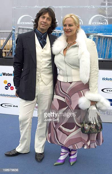 Laurence LlewelynBowen And His Wife Jackie Attend The Icespace Launch Party In London