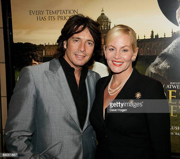 Laurence LlewelynBowen and his wife Jackie attend the UK premiere of 'Brideshead Revisited' at the Chelsea cinema Kings Road on September 29 2008 in...