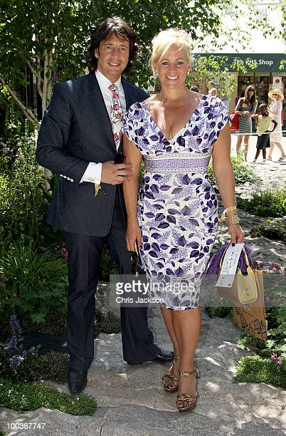 Laurence LlewelynBowen and his wife Jackie attends the Press VIP preview at The Chelsea Flower Show at Royal Hospital Chelsea on May 24 2010 in...
